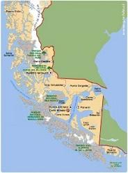 Mapa Patagônia Chilena